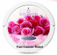 2015 Newest Arrvial Creative Replaceable Cover Bagless Vacuum Cleaner Robot QQ6 With UV Light, Sonic Wall, 2pcs Side Brushes