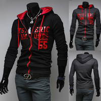 Hot Selling Brand New Personalized letters printed stylish casual hooded sweater coat men's hoody jacket hoodies BW05