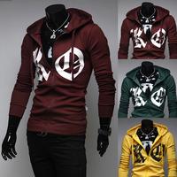 2014 Autumn Winter Newest Desgin Men's long sleeve Clothing Hoodies & Sweatshirts mens casual slim Zipper for man  M-XXL BW07