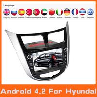 Android 4.2 Auto Car Audio DVD Player Stereo Head Unit Autoradio GPS SAT NAV Navi Navigation  For Hyundai Solaris Verna Accent