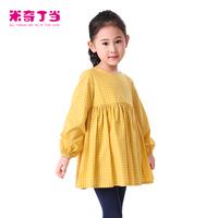 New Arrival Beautiful children plaid dress #1413123 In Stock kids Long Sleeve Elasticated Cuff dress Hem kids girl dresses