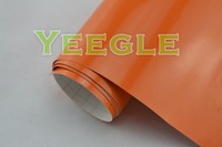 1.52x30M 5x98FT Air Free 0.18mm orange glossy carbon fiber vinyl Free Shipping