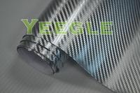 1.52x30M 5x98FT Air Free silver chrome carbon wrap Free Shipping