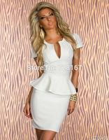 2014 New Women Sexy V-neck Clubwear Dresses Nightclub Dress