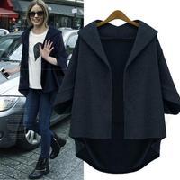 Casaco Feminino Inverno 2014 Batwing Sleeve Cardigans Eurpean Style Wool Blends Loose Temperment Vintage Coat