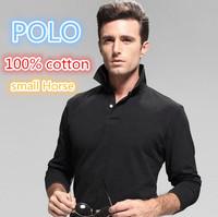 R-L 2014 Men Custom-fi Mesh Small horse Logo original Long sleeve Polo/men Golf/100% cotton,original casual brand Polo shirts