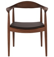 Hans Wegner round chair walnut solid wood armchair dining chair kennedy chair KC-001