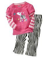boy girl kids clothing set ,conjuntos  child clothing set ,Pink zebra T-shirt long short, zebra pants  F0321