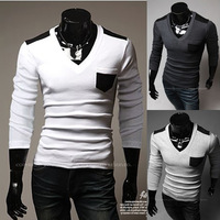 2014 New men' polo shirt Fashion brand cotton solid Long sleeve luxury boss polo shirts for men Free Shipping BT11
