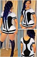 Sexy bodycon Jumpsuits short Rompers women hot sale mesh patchwork short sleeve skinny Female Bandage club Wear Pants Bodysuit