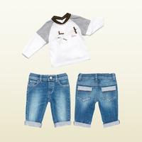 New 2014 Autumn Children Boys Clothing set Long sleeve T Shirt + Jenas set of clothes for Boys