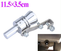 Universal Turbo Sound Whistle Exhaust Pipe Tailpipe Fake BOV Blow-off Valve Simulator Aluminum Size XL 11.5x3.5cm Free Shipping