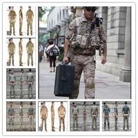 8 Color Airsoft EMERSON Navy Seals Combat Set Summer Edition Knee Pad short sleeve AOR2 Woodland Marpat EM6902