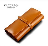New Waxy Leather Women's Wallet Fashion Genuine Leather OL Women's Long wallets Brand Female Leather Wallet/Purse Wholesale