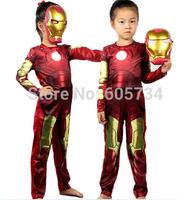 Iron Man costume spiderman suit spider-man costume child spider man halloween cosplay clothing free ship