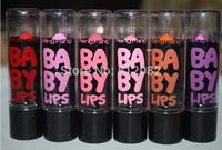 Dropship 6pc 6 colors Each Baby Lips Black Tube Lipstick Moisture lip balm Gift  Wholesale Free Shipping