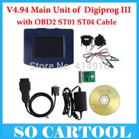 2015 Newest V4.94 Digiprog III Digiprog 3 Odometer Programmer digiprog3 With OBD2 ST01 ST04 Cable Free DHL Shipping