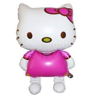 Free shipping 10pcs/lot cartoon kitty foil balloon party decoration balloon big size 114x68CM