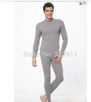 Free shipping Pure cotton Autumn Winter man High Collar thermal underwear men cold-proof Long Johns Male Blouse Pants Suit z115