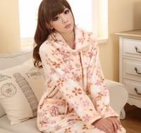 2014 Autumn/Winter New Arrival,Free Shipping,Thick Flannel Sleepwear set,Warm Long Sleeve Sleeping Wear Set,100% Good Quality