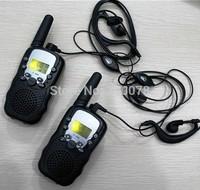 2014 New radio walkie talkie pair T388 PMR/FRS radios VOX hand-free talkie radios earphones w/ led flashlight + 99 private code