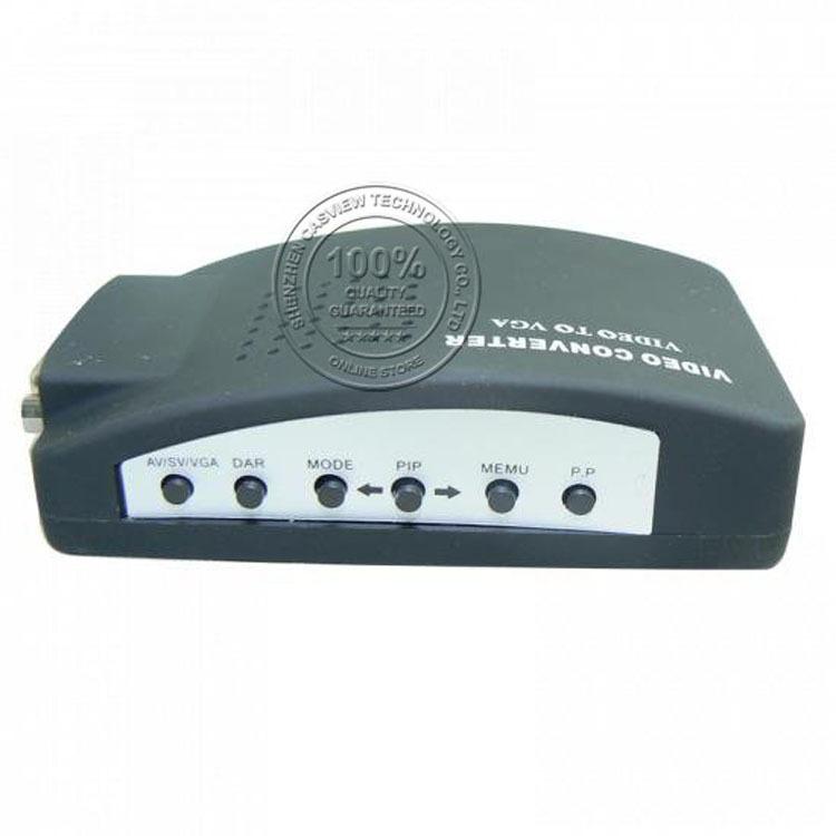 Free shipping 1PCS BNC(Video) to VGA Converter 1CH Video input; 1CH S terminal input; 1CH VGA signal input 1CH VGA signal output(China (Mainland))