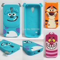 3D Cartoon Cute nMonsters Inc. Sulley James P. Sulliva Tigger Cheshire Cat Silicon Case Cover Bags For Galaxy S4 mini i9190