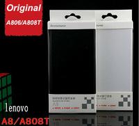 Lenovo A8 A806 A808T original leather case black white lenovo a8 case lenovo a808t case in stock flip case/Koccis