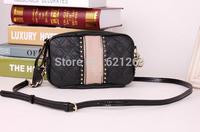2014 new fashion brand bag women rivet messenger bags