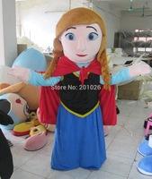 Adult Size Fine Anna princess Frozen Mascot Costume Snowman Character Costume