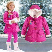 Retail NEW 2015 Frozen Winter Coat Anna Elsa Sherpa jackets for Girls Kids Hooded Coat Children Outerwear Girl Down &Parkas C001