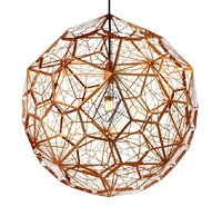 Dia 38cm/56cm/65cm Etch LED Light Web Copper / Silver Chandeliers & Pendant Lamps Tom Dixon Diamond Droplight Lights Lighting