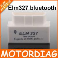 Diagnostic tool Super White mini ELM327 Bluetooth OBD2 V1.5 Universal elm 327 bluetooth OBD 2 Car Code Reader obd-ii