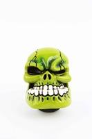 Universal Manual Operation Car Gear Shift Knob Shifter Lever Resin Skull Green