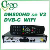 1pc DM800se V2 DVB-C satellite receiver dm800 se V2 with SIM2.20 300Mbps Wifi 1GB Flash 521MB RAM HbbTV
