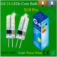 10Pcs/Lot High Power G4 Led 12VDC/220V 3014 Chip 24/32/48/64/104Leds Chandelier Silicon Lamp Crystal Corn Light 3W/5W/6W/9W Bulb
