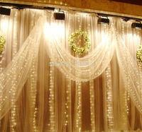 Promotion! 6MX3M,Led Curtain Lights String,Xmas Christmas Lights,Wedding lights string,600 LED,EU/UK/AU/US Plug,110/220V
