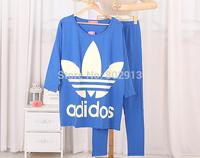Free shipping 2014 Autumn Women Pajamas Sets Long sleeves Girls sleepingsuits For women Running Tennis Walking wear