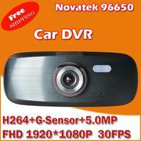In Stock! Original Car DVR Recorder with NOVATEK 96650 + Super FHD 1920 * 1080P 30FPS +H264 + G-Sensor + WDR+5.0MP lens