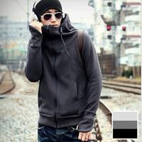 5 color autumn winter Hot-selling fleece  male even gloves sweatshirt outerwear personality male sweatshirt M-XXL