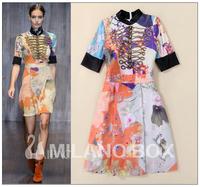 2015 vintage runway dress brand quality dress cute fashion dress