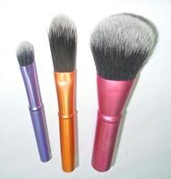 3pcs 3 colors high quality professional women mini  makeup brush  close skin and soft aluminium handle FREE SHIPPING y857