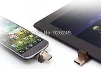 Real Capacity pendrive mini usb flash drive 128gb usb flash drive double plug metal OTG MINI Smart phone pen drive 128GB gift