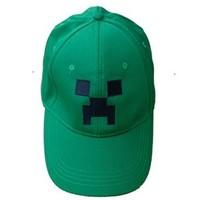 Wholesale/retail Minecraft Creeper Character Hat,Cartoon Game Hate Children hats,Minecraft Creeper Baseball Cap For Men Women