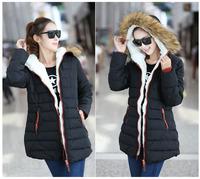 Size L-XXXL New 2014 women coat winter dress winter coat jackets women breasted snow coat cashmere jacket coat women's 1356