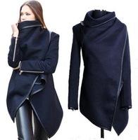 Spring Autumn Winter 2015 New Europe Womens Temperament Slim Woolen Coat Windbreaker Trench Abrigos Desigual Woman casual coat