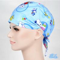 Printed cotton Han Zi Jie surgical cap surgical cap European style surgical cap