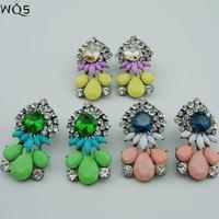 2014 Designer Brands Shourouk Colored Earrings For Women Fashion Wild Brincos Women Stud Earrings Pendientes Christmas Gift
