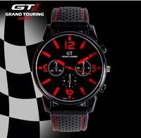 GT Watch 2014 F1 Men Sports Watch Luxury Brand Silicone Strap Fashion Quartz Movement Men Military Wristwatch Men's Watches