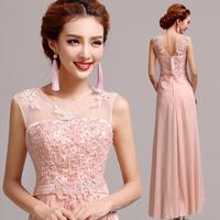 Professional custom new luxury hollow lace shoulder  long dress